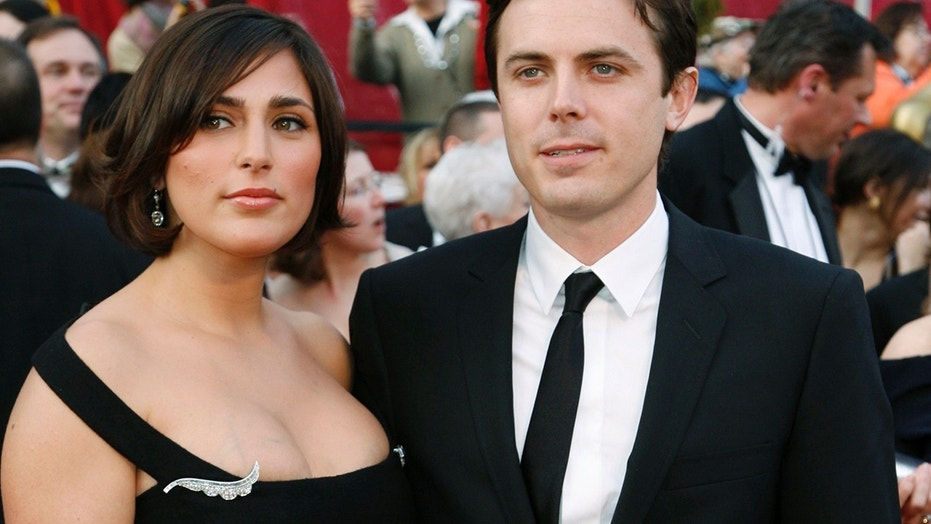 "Actor Casey Affleck, dressed in Dolce & Gabbana, a best supporting actor nominee for his role in ""The Assasination of Jesse James,"" poses with his wife Summer Phoenix at the 80th annual Academy Awards, the Oscars, in Hollywood, February 24, 2008."
