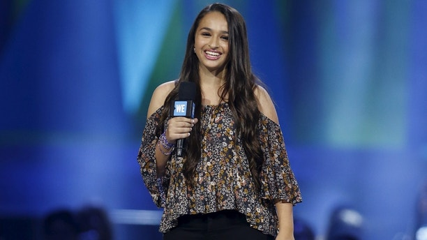 Transgender teen Jazz Jennings speaks on stage during We Day California in Inglewood, California, April 7, 2016. REUTERS/Danny Moloshok - RTSE2JI