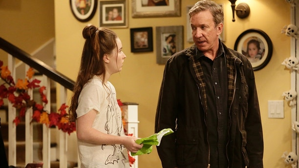 "LAST MAN STANDING - ""Halloween"" - On Halloween, Mike and Chuck decide to spend the evening watching football instead of passing out candy with their wives. But when Vanessa and Carol start pranking them, the competition is on to see who can out-prank who. Kyle dresses up like his hero, Ed, but Ed has a surprising response to Kyle's imitation of him, on ""Last Man Standing,"" FRIDAY, OCTOBER 30 (8:00-8:31 p.m., ET/PT) on the ABC Television Network. (ABC/Nicole Wilder)