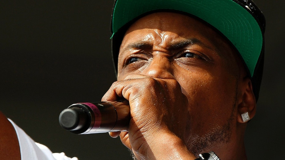 In this May 4, 2012, file photo, Mystikal performs at the New Orleans Jazz and Heritage Festival in New Orleans. Mystikal, whose real name is Michael Lawrence Tyler, surrendered to authorities on Monday, Aug. 21, 2017, in Louisiana, where he faces a sexual assault charge.