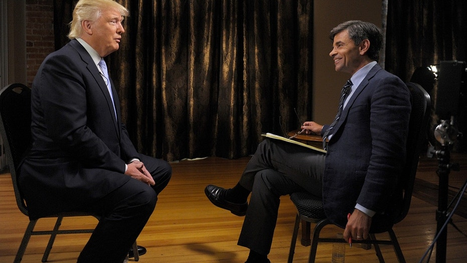 "George Stephanopoulos interviews Donald Trump on ""This Week with George Stephanopoulos,"" on July 31."