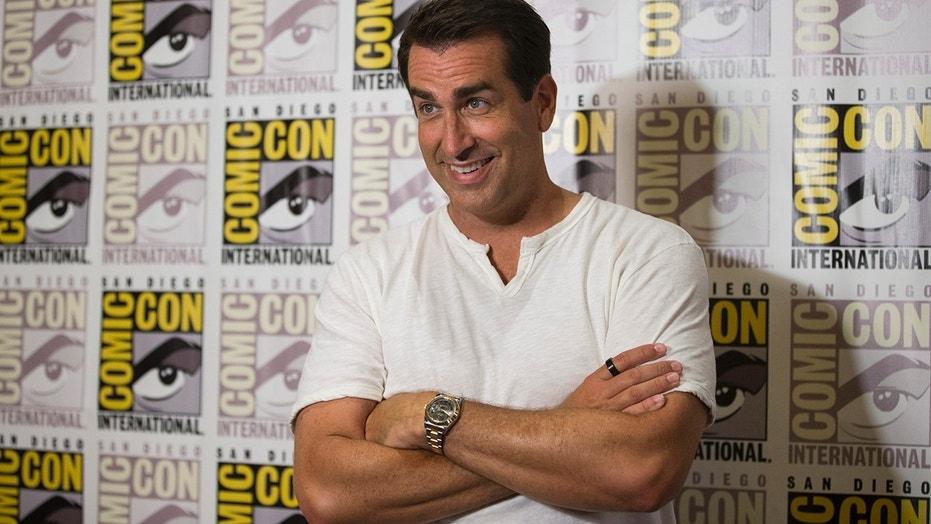 "Rob Riggle poses at a press line for ""Let's Be Cops"" during the 2014 Comic-Con International Convention in San Diego, California July 25, 2014."