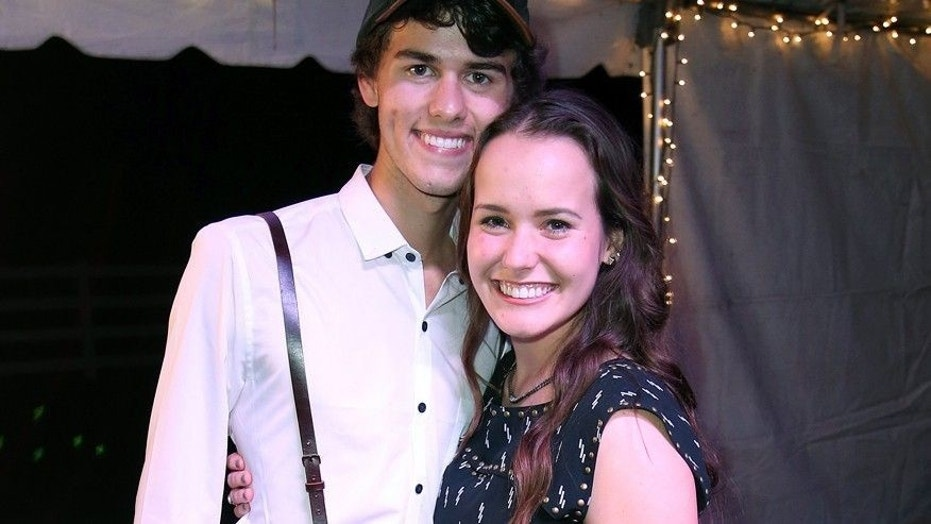 John Luke Robertson and Mary Kate McEacharn at their engagement party.