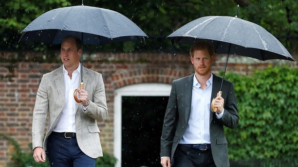 Britain's Prince William, Duke of Cambridge and Prince Harry visit the White Garden in Kensington Palace in London, Britain August 30, 2017. REUTERS/Kirsty Wigglesworth/Pool - RC133A0AEC90