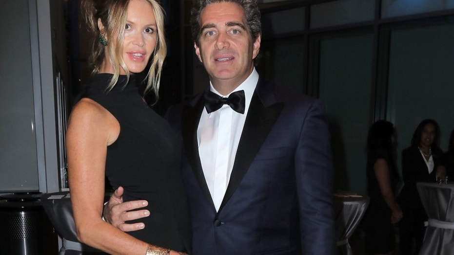 Elle McPherson (left) and Jeffrey Soffer at the Pritzker Architecture Prize on May 15, 2015 in Miami Beach, Florida.