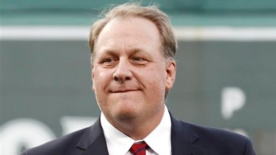 "Curt Schilling, who was fired from ESPN for expressing conservative political views on social media in 2016, attacked ESPN's ""liberal racism."""