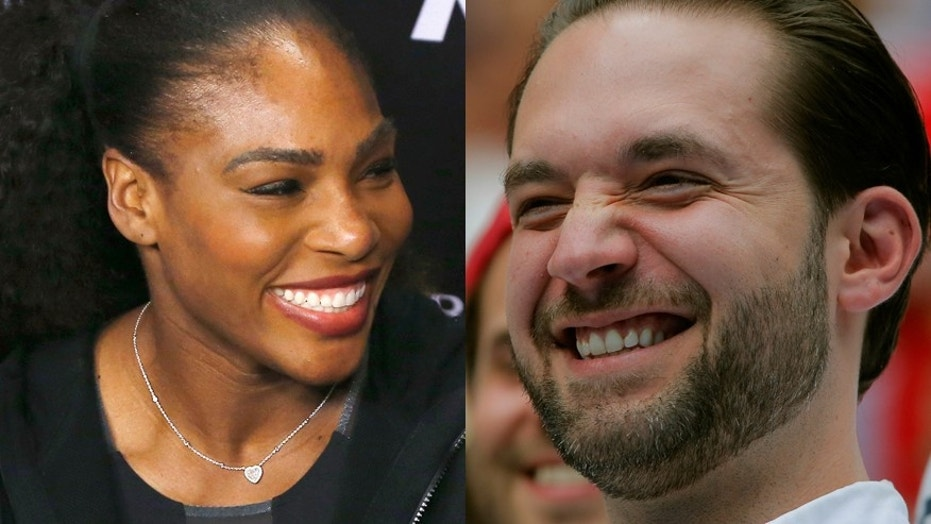 Serena Williams (left) and Alexis Ohanian.