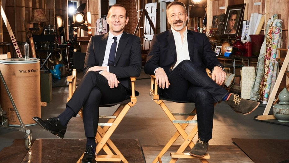 'Will & Grace' co-creators Mac Mutchnick and David Kohan pose for a photo.
