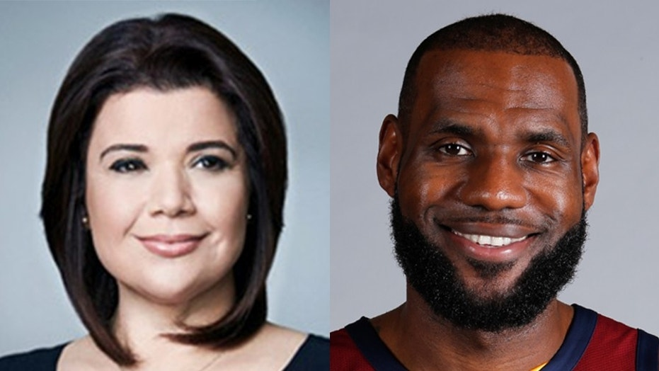 CNN analyst Ana Navarro apologized after tweeting a fake image of LeBron James.