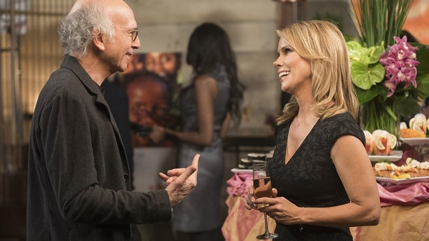 "Larry David (left) and Cheryl Hines in HBO's ""Curb Your Enthusiasm."""