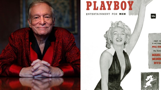 Playboy founder Hugh Hefner (left) will be buried next to Mariyln Monroe who graced the first cover of the iconic magazine in 1958.