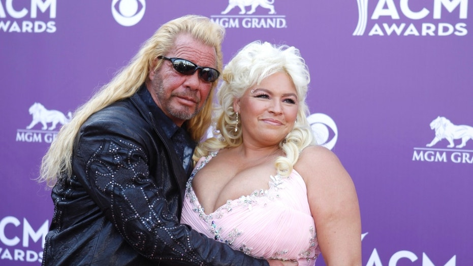 "Duane ""Dog"" Chapman (left) gave an update on his wife Beth Chapman (right) and her condition."