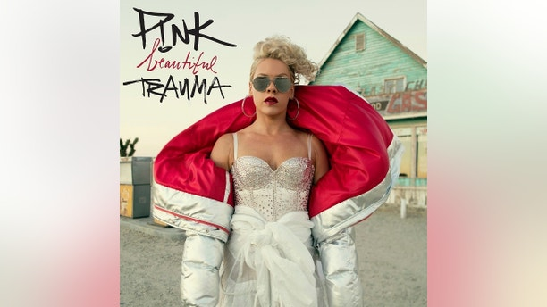 "This cover image released by RCA Records shows ""Beautiful Trauma,"" a release by Pink. (RCA Records via AP)"