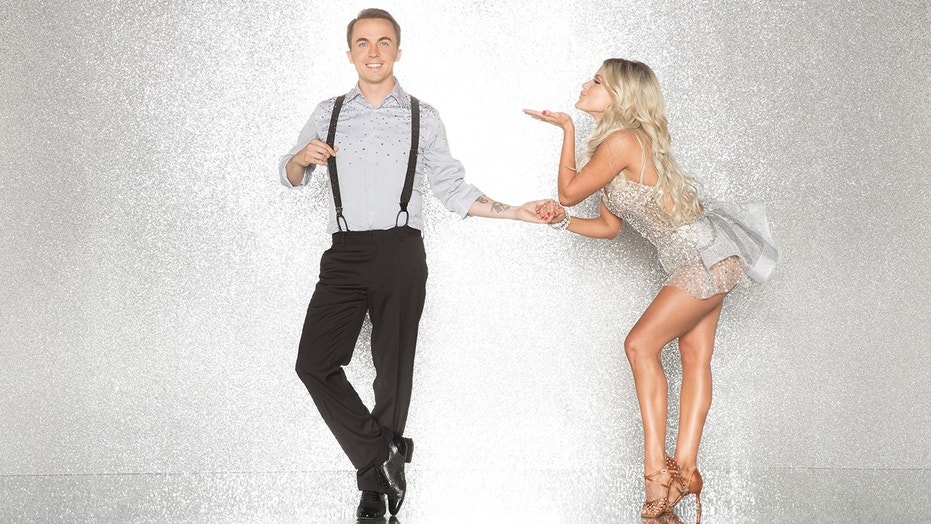 "Frankie Muniz (left) with his ""Dancing with the Stars"" partner Witney Carson."