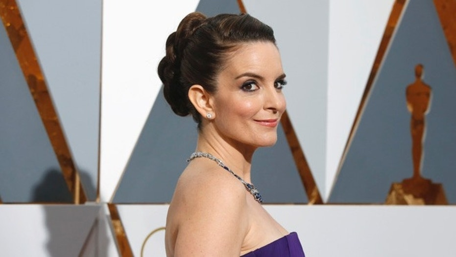 "Tina Fey's old show, ""30 Rock,"" once poked fun at Hollywood executive Harvey Weinstein. Fey is pictured at the Academy Awards in February 2016."