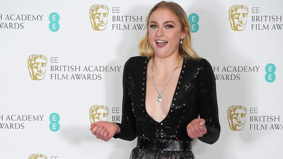 Presenter Sophie Turner  poses after presenting an award at the British Academy of Film and Television Awards (BAFTA) at the Royal Albert Hall in London, Britain, February 12, 2017.  REUTERS/Toby Melville - RC174C42A9E0