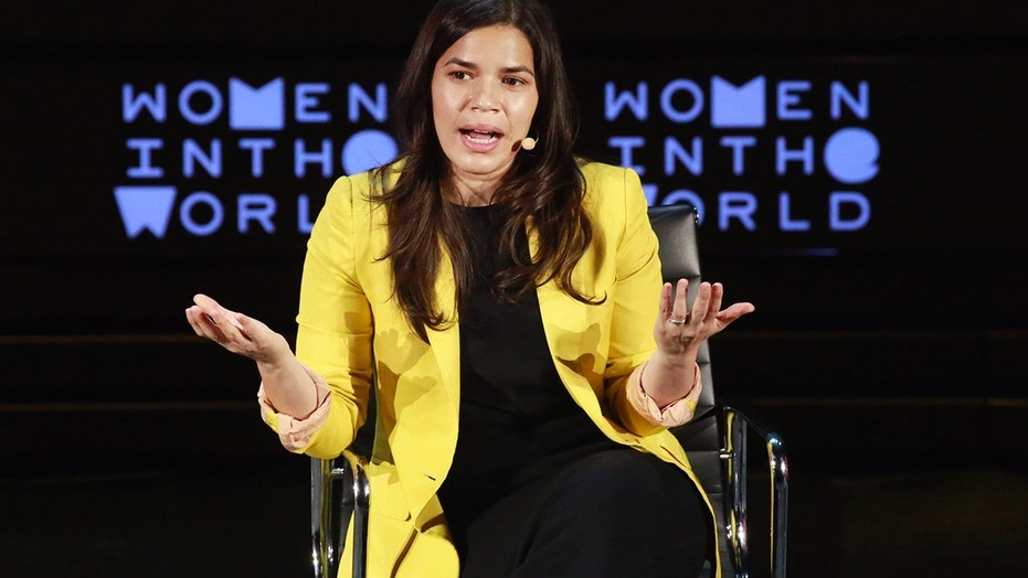 Actress America Ferrera speaks during the Women In The World Summit in the Manhattan borough of New York April 8, 2016.
