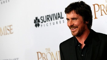 """Cast member Christian Bale poses at the premiere of """"The Promise"""" in Los Angeles, California U.S., April 12, 2017. REUTERS/Mario Anzuoni - RC1339C5EE20"""