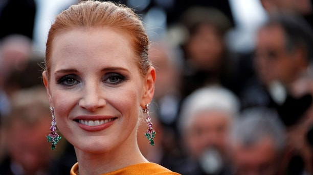 70th Cannes Film Festival - Event for the 70th Anniversary of the festival - Red Carpet Arrivals - Cannes, France. 23/05/2017. Actress Jessica Chastain poses. REUTERS/Jean-Paul Pelissier - RC1CE8477CF0
