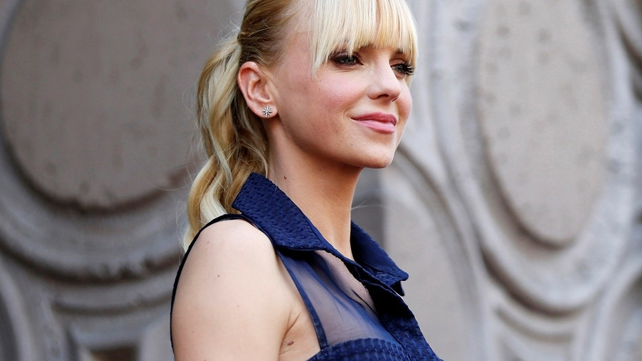 Anna Faris poses poses during a ceremony honoring actor Chris Pratt with a star on the Hollywood Walk of Fame in Hollywood California