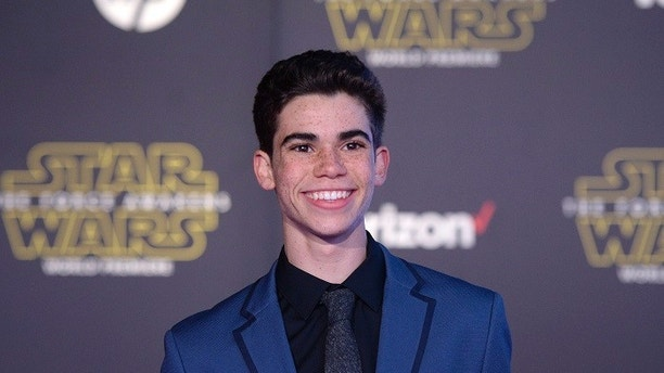 actor cameron boyce arrives at the premiere of star wars the force awakens