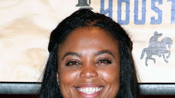 "This is a Feb. 3, 2017, file photo showing Jemele Hill attending ESPN: The Party 2017 in Houston, Texas. ESPN says it has accepted the apology of its ""Sportscenter"" host Jemele Hill for tweeting earlier this week that President Donald Trump was a ""white supremacist"" and ""bigot."""