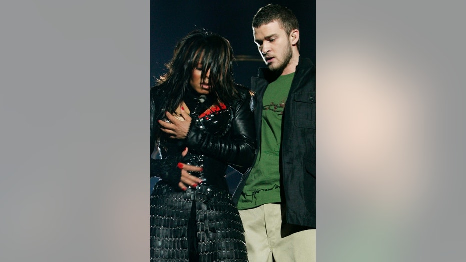 "Justin Timberlake is gearing up for his first Super Bowl Halftime Show gig since the notorious ""wardrobe malfunction"" with Janet Jackson, seen here."