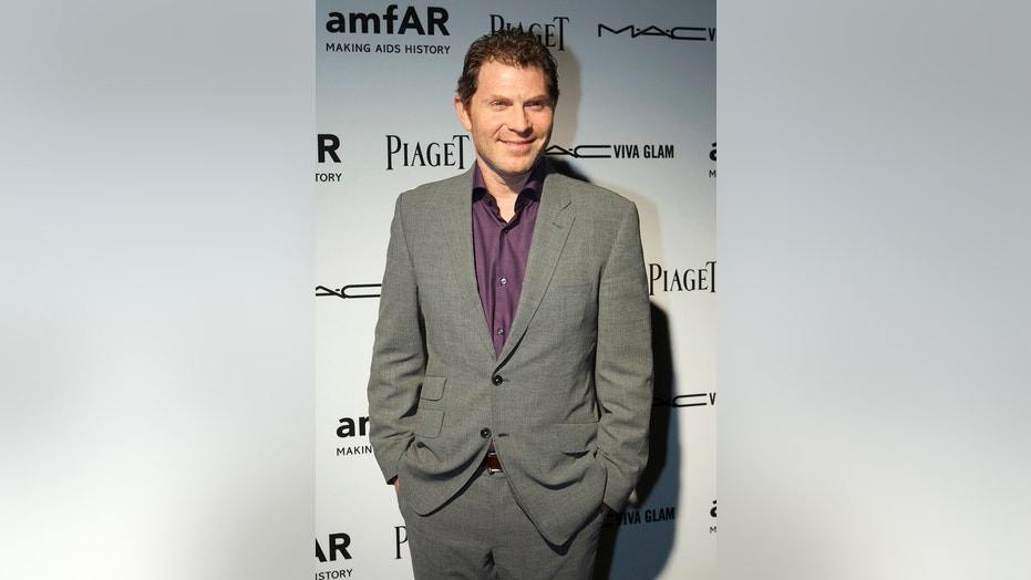 "Bobby Flay struck down rumors stating the celebrity chef quit Food Network's ""Iron Chef."""