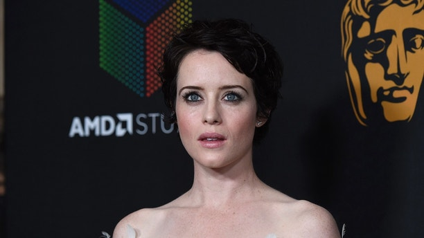 Claire Foy arrives at the BAFTA Los Angeles Britannia Awards at the Beverly Hilton Hotel on Friday, Oct. 27, 2017, in Beverly Hills, Calif. (Photo by Chris Pizzello/Invision/AP)