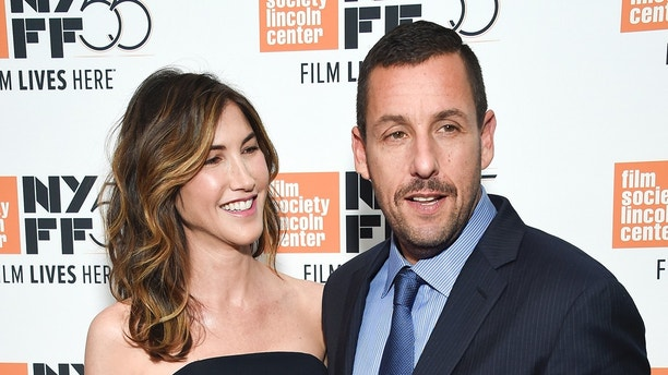 "Actor Adam Sandler and wife Jackie Sandler attend the premiere of ""The Meyerowitz Stories"", during the 55th New York Film Festival, at Alice Tully Hall on Sunday, Oct. 1, 2017, in New York. (Photo by Evan Agostini/Invision/AP)"