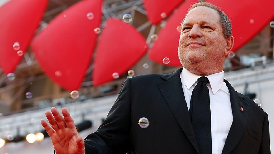 Producer Harvey Weinstein poses during a red carpet for the movie