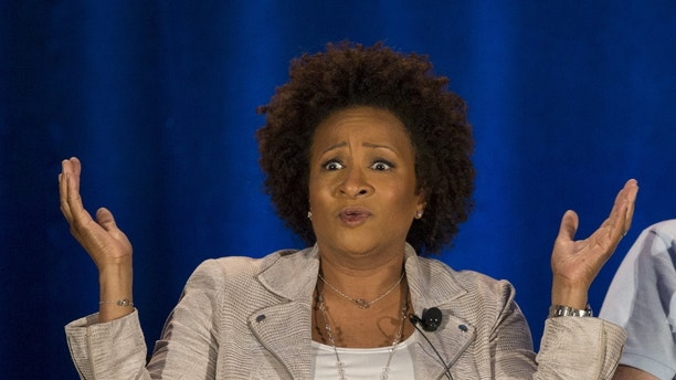 "Executive producer Wanda Sykes speaks at a panel for the television series ""Last Comic Standing"" during a NBC summer press day in Pasadena, California April 2, 2015."