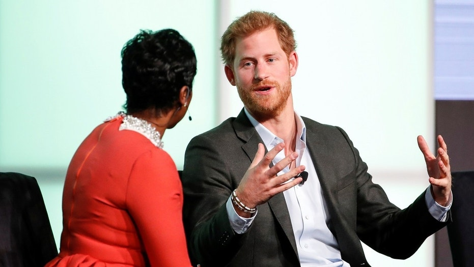 "Prince Harry said on Tuesday that his late mother, Princess Diana, was his ""ideal role model."""