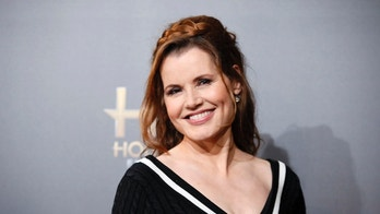 November 14, 2014. Geena Davis poses backstage during the Hollywood Film Awards in Hollywood, California.