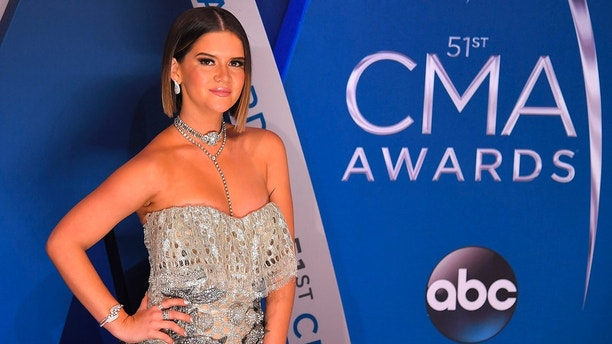 51st Country Music Association Awards – Arrivals - Nashville, Tennessee, U.S., 08/11/2017 - Maren Morris.  REUTERS/Harrison McClary - HP1EDB900NUAR