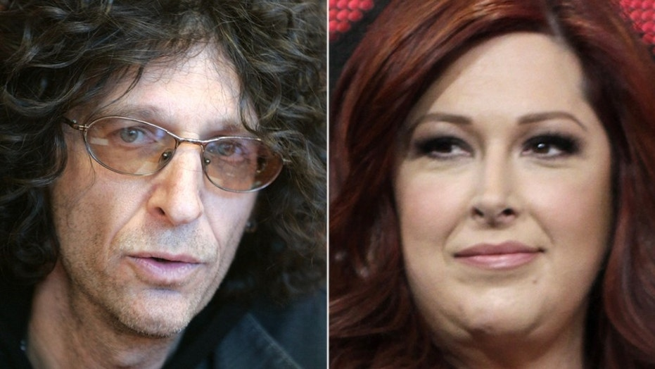 Howard Stern and Carnie Wilson