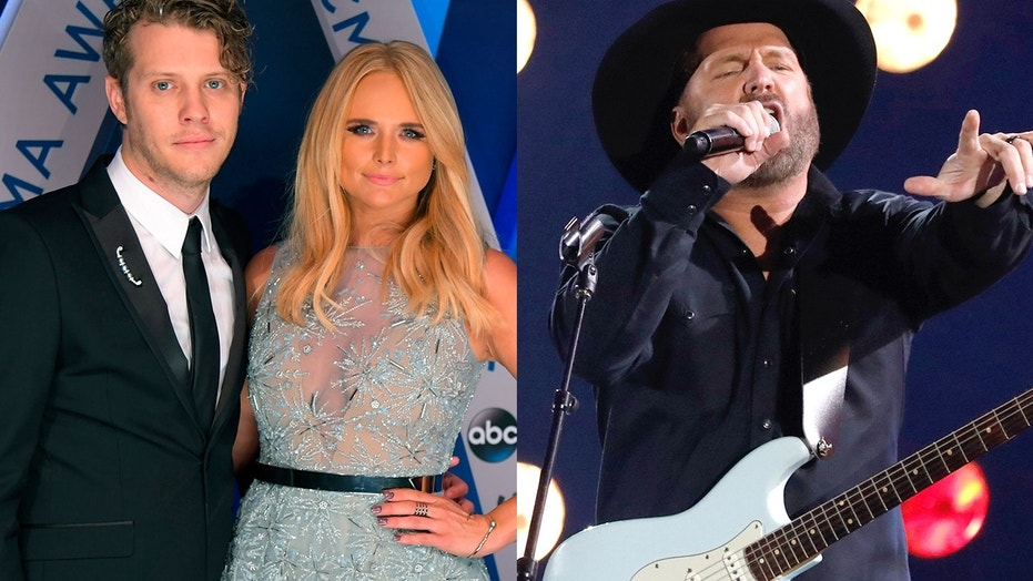 Miranda Lambert and her boyfriend Anderson East (left) slammed CMA Entertainer of the Year Garth Brooks (right) for lip-syncing during his performance at the award show on November 8.