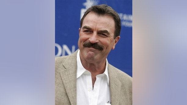 In this Saturday, May 10, 2008 photo, actor Tom Selleck arrives at the 15th Annual Entertainment Industry Foundation Revlon Run/Walk For Women in Los Angeles. Actor Tom Selleck has been awarded more than $187,000 after a California jury found the actor was duped into buying a lame horse. (AP Photo/Dan Steinberg)