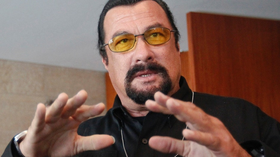 "FILE: A former actress said Steven Seagal harassed her on the set of ""Out for Justice."""