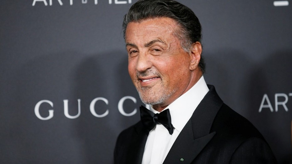 Actor Sylvester Stallone poses at the Los Angeles County Museum of Art (LACMA) Art+Film Gala in Los Angeles, October 29, 2016.