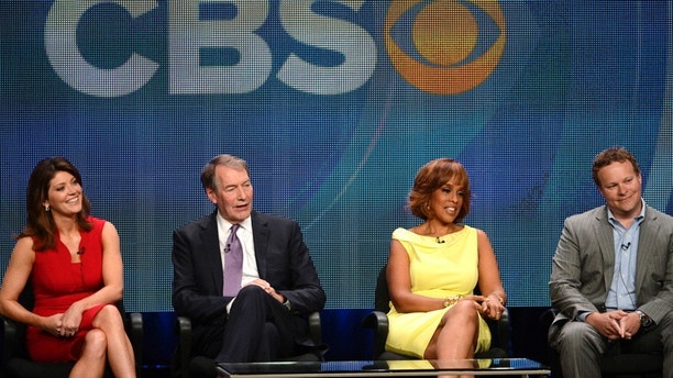 CBS This Morning co-hosts (L-R) Norah O'Donnell, Charlie Rose and Gayle King with Chris Licht, Vice President, programming, CBS News and executive producer, CBS This Morning participate in a panel for CBS News and 'CBS This Morning' during the CBS sessions at the Television Critics Association summer press tour in Beverly Hills, California July 29, 2012. REUTERS/Phil McCarten (UNITED STATES - Tags: ENTERTAINMENT) - RTR35M9Y