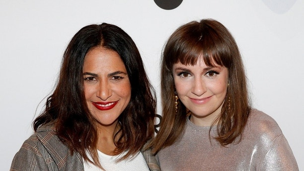 Jennifer Konner (L) and Lena Dunham arrive together for Variety's Power of Women luncheon in New York City, U.S., April 21, 2017. REUTERS/Brendan McDermid - RC112D6DC7A0