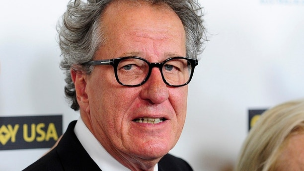 Australian actor Geoffrey Rush arrives during the G'Day USA Black Tie Gala in Los Angeles California