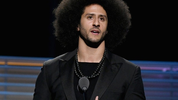 Colin Kaepernick accepts the SI Muhammad Ali Legacy Award during SPORTS ILLUSTRATED 2017 Sportsperson of the Year Show on December 5, 2017 at Barclays Center in New York City.