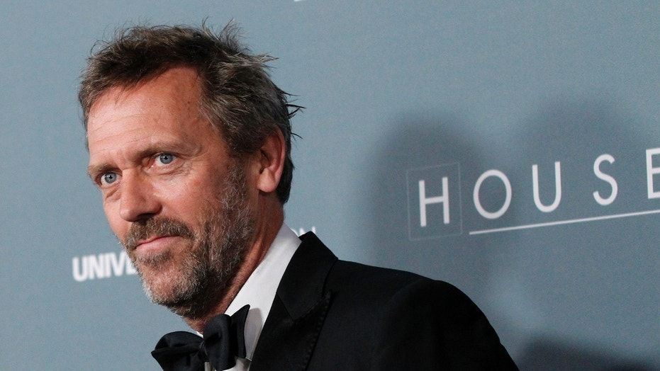 Hugh Laurie, seen in the file photo above, took to Twitter to find the rightful owner of a wrongly-delivered package he received.