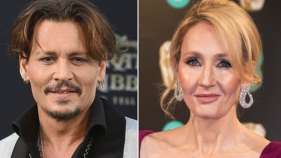 "Author J.K. Rowling is voicing her support for actor Johnny Depp and his casting in an upcoming sequel to ""Fantastic Beasts and Where to Find Them."""