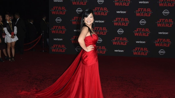 "Kelly Marie Tran arrives at the Los Angeles premiere of ""Star Wars: The Last Jedi"" at the Shrine Auditorium on Saturday, Dec. 9, 2017 in Los Angeles. (Photo by Jordan Strauss/Invision/AP)"