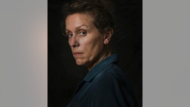"This image released by Fox Searchlight shows Frances McDormand from the film ""Three Billboards Outside Ebbing, Missouri."" On Monday, Dec. 11, 2017, McDormand was nominated for a Golden Globe for best actress in a motion picture drama for her role in the film. The 75th Golden Globe Awards will be held on Sunday, Jan. 7, 2018 on NBC. (Merrick Morton/Fox Searchlight via AP)"