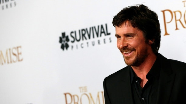 "Cast member Christian Bale poses at the premiere of ""The Promise"" in Los Angeles, California U.S., April 12, 2017. REUTERS/Mario Anzuoni - RC1339C5EE20"