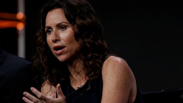 "Cast member Minnie Driver speaks at a panel for the television series ""Speechless"" during the TCA Disney ABC Summer Press Tour in Beverly Hills, California U.S., August 4, 2016.   REUTERS/Mario Anzuoni - S1BETTNYOUAA"